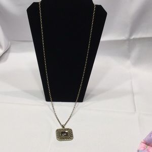 NWT Lia Sophia gold pendant necklace 34""
